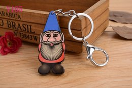 2016 Santa Claus Silicon Key Caps Covers Keys Keychain Case Shell Novelty Item Key Accessories Car Keychain Ring Y105