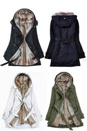 Promotion hoodie de la fourrure pour les femmes Gros-épais Faux Capuches de fourrure de la fourrure doublure femmes hiver chaud longtemps fourrure à l'intérieur des vêtements veste manteau de coton parkas thermiques Livraison gratuite