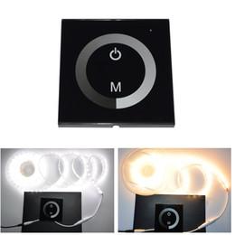 Купить Онлайн 24v диммер панель-Бесплатная доставка LED диммер 12V Сенсорная панель диммер 12В - 24В для прокладки водить RGB LED Lights, Лампы главного Лампы диммируемым