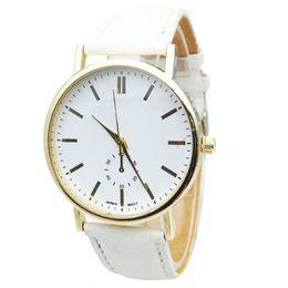 Women Fashion Roman Faux Leather Analog Quartz Wrist Watch original White Business Woman Watches Clock Female Casual Watch