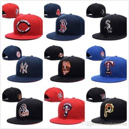 Wholesale Men s women sport all team hats embroidered link logo Cubs White Sox Indians Red Sox navy blue adjustable baseball snapback caps