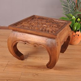 Wholesale Thai crafts Southeast Asian wood sculpture carved furniture Tables and chairs coffee table tea table