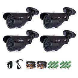 Wholesale ZOSI Camera Kit x TVL HD H quot CMOS IR Led Day Night ft Waterproof Outdoor Security Surveillance Bullet Camera CCTV