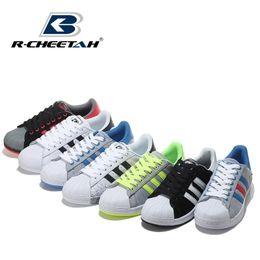 Wholesale 2015 Release Originals woman Superstar Rainbow Paint Mens Athletic Shoes Men Casual Skate Board Shoes Size