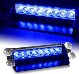 Argentina 8 LED de luz estroboscópica flash 8W 12V del coche Luz de emergencia Advertencia envío libre de alta potencia de luz ship warning strobe light for sale Suministro