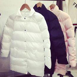 2015 Nueva Otoño Invierno Moda Overcoat Rosa / Negro / Beige Único Botón Abajo Collar Casual Worsted Abrigo Abrigo para las mujeres OXL082704 desde solo botón abrigos negros proveedores