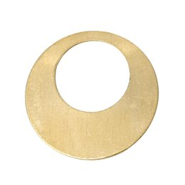 Copper Blank Stamping Tags Pendants Round Light Golden 18mm Dia,100 PCs 2015 new