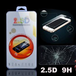 Écrans 4s à vendre-iphone 6 6Plus 5 4S 2.5D 0.26mm Protecteur d'écran en verre trempé 9H Prime Film pour iPhone6 5S 4 Avec Retail Package