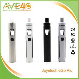 Promotion commencer ego kit Authentic Joyetech eGo AIO Starter Kits Joyetech eGo AIO Quick Start Kit 2ml Réservoir 1500mAh eGo AIO batterie avec eGO AIO Embouchure