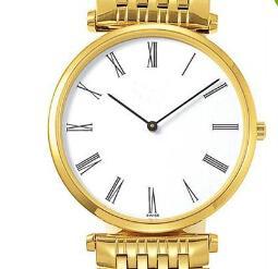 Wholesale Para mujer vestido de las mujeres de cuarzo relojes deportivos números romanos lujo blanco Caras Oro Acero inoxidable señoras de la mujer Reloj de pulsera de las muchachas Envío Gratis