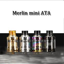 wholesale Merlin Mini RTA Tank 2ml dual Coil Deck W  Bottom Dual Airflow 24mm diameter Merlin Mini Atomizer Electronic Cigarette RTA RDA
