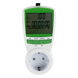 Wholesale pc Energy Power Meter LCD Digital Watt Volt Amp Frequency Monitor Wattage Voltage Analyzer V Hz US UK EU Plug