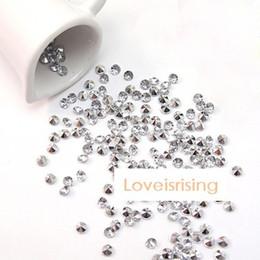 2017 tableau acrylique clair 30% Off-1000pcs 4.5mm 1/3 carats clair avec plaqué en argent confetti acrylique de perles de mariage Décor-Livraison gratuite budget tableau acrylique clair