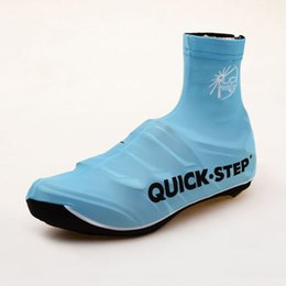 2015 ETIXX QUICK STEP PRO TEAM BLUE Cycling Shoe Covers Shoecovers Cycling Cover Size:M-XL