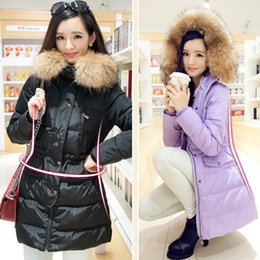Wholesale Real shot in winter women s quality of elegance luxury Nagymaros collar down jacket thick coat Slim