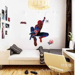 Wholesale bedroom decoration Wall Stickers factory direct trade new children s room decorative wall stickers fashion Amazing Spider Man MJ8001