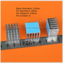 Wholesale x21x15mm CPU Aluminium Radiator Heatsink Cooler With Thermal Pad For Plastic IC Packages and PCB