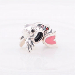 Muticolor Stones Eurasian Carp Authentic 925 Sterling Silver Charm Jewelry Fine Charming Star YZ086 charm marketing