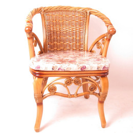 Wholesale Enron House wicker chairs rocking chair computer chair office chair to discuss the home back lounge chair rattan twist hand B
