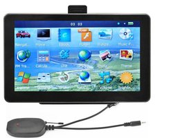 "7"" Bluetooth Car GPS Navigation+Wireless Reverse Camera POI AVIN GPS Navigator System With 4GB New Maps"
