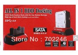 Wholesale DHL free quot quot SATA IDE Double Dock HDD Docking Station e SATA Hub External Storage Enclosure Parts hard disk base