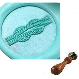 Vintage Tie Knot Custom Picture Wax Seal Stamp Wedding Invitation