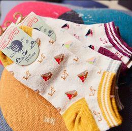Wholesale A852 socks manufacturers Korea cute Navy anchor boat wind circle yarn boat socks socks