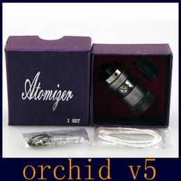 Compra Online Mejor rba-Mejor Orquídea V5 RBA Rebuidable Atomizador Orquídea 5.0 4 Canales para 510 ecigs 4 ml de capacidad con 510 hilos Color Acrílico DHL Libre