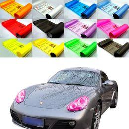 Changement de couleur des phares à vendre-30cm * 1m auto autocollant voiture fumée brouillard lumière phare feu arrière teinte film vinyle feuille voiture décoration décalques changement de couleur voiture film bâtons