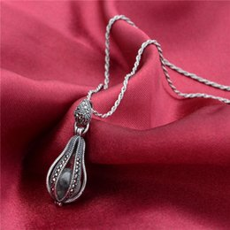 Wholesale Hot Sale Silver Paper Boat bottle Necklace aromatherapy pendant Marcasite Oxidized Thailand Jewelry as gift No90 PET491