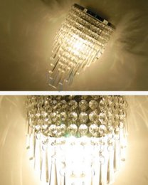 Wholesale Big Discount Modern Crystal Wall Lamp Bed Room Sconce Aisle Lighting Height quot CM LD54