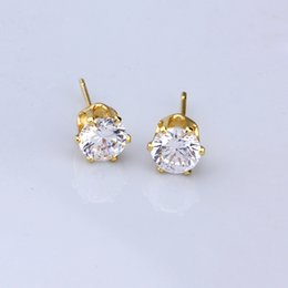 Wholesale 14K Gold Plated Jewelry Earrings Studs For Women Cublic Zirconia Ear Studs Mix Order Xuping Brand Environmental Copper Earrings