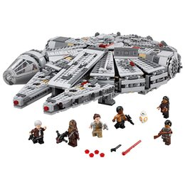 Wholesale 1381pcs Lepin Star Wars Millennium Falcon Force awakening assembling building blocks compatible with Best Gift for children