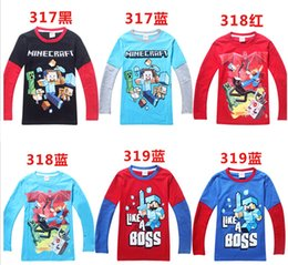 Wholesale 30 OFF new hot my world Fireman Kids Baby Girls Long Slevee T Shirt Cotton Tops Minecraft Children s T shirts Clothes Years