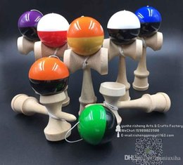 20pcs pu paint half piece Rubber paint Game ball skills with a sword jade jade sword ball kendama wholesale
