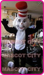 Wholesale Hot Sale The Cat in the Hat Dr Seuss Mascot Costume Halloween Costumes Fancy Dress theme Birthday Party Mascotte Kits Suit