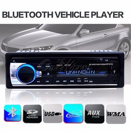 Wholesale 12V Hands free Bluetooth Digital Car Stereo Player Radio Audio Music MP3 Player CD AUX Din Machine Music