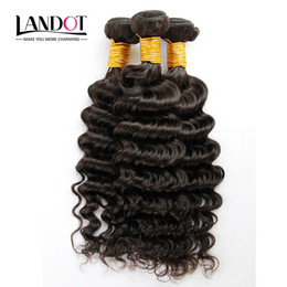 3Pcs Lot 8-30 Inch Mongolian Deep Wave Curly Virgin Hair Grade 6A Unprocessed Mongolian Human Hair Weave Bundles Natural Black 1B Extensions