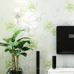 Rose Floral Wallpapers Rolls 4 Colors Pastoral Wall Paper Bedroom TV Background Wall Covering Wedding Decoration Gift