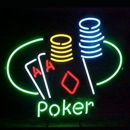 Wholesale Revolutionary Neon gift Super Bright Corona Light Poker Ace Coin Table Neon Beer Sign quot x15 quot Available multiple Sizes