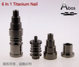 Wholesale Abos VIP mm in adjustable Highly Educated Grade Titanium Domeless E Nail Nail for mm or mm Enail Coil