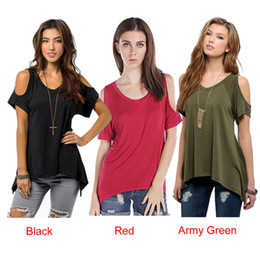 w1025 Best-seller 2015 Summer Sexy Women Casual V-Neck Off Shoulder T-Shirt Short Sleeve Solid Stretch T-Shirt Tops
