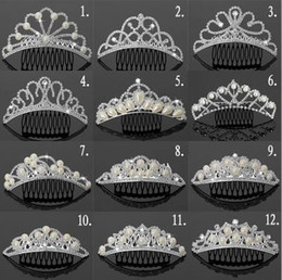 Wholesale Great Deal Rhinestone Pearls Crowns Jewelries Cheap Bridal Tiaras Wedding Party Bridesmaid Hair Accessories Headpieces Hair Band For Brides