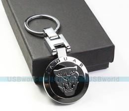 Wholesale Male Fashion Metal Keychain Jaguar Car Key Chain Pendant Ring Gift Case Brand New Best Presents