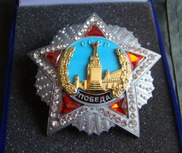 Wholesale The October revolution Lenin Metal Badge Medal of honor of labor red exploits Business Edition Gift Box