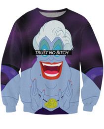 Unisex Women Men Trust No Bitch Ursula Sweatshirt 3d print Casual Character cartoon jumper tops pullover Sweats Moletons