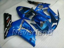 Motorcycle Fairing kit for KAWASAKI Ninja ZX6R 03 04 ZX6R 636 2003 2004 Classical blue black ABS Fairings 03