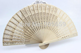 2015 new arrival Hot sale Bridal Hand Fans Hollow Out Wood Fans Handmade Folding Fans Wedding Accessories
