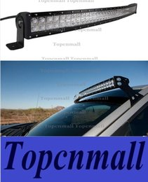 Wholesale 50 inch W CREE LED Work light bar Car Spot Flood beam X4 W LM MARINE JEEP boat curved Off road Fog Driving led light bar
