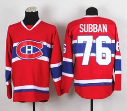 Wholesale PK Subban Montreal Premier Home Red Ice Hockey Jersey Lars Eller Carey Price Canadiens Emelin All Players Team Jersey